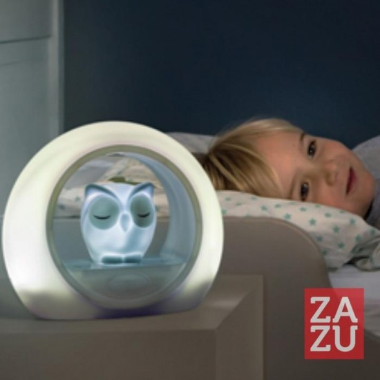 ZAZU Λου η Κουκουβάγια Φωτάκι Νυχτός με Αισθητήρα Ήχου