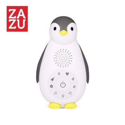 ZAZU ZOE Πιγκουίνος Ηχείο - Bluetooth με Φως, Χτύπο καρδιάς & Λευκούς Ήχους Γκρι